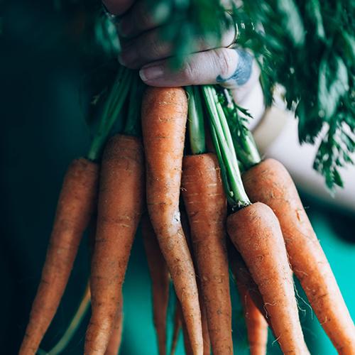 Carrots for carrot ginger juice